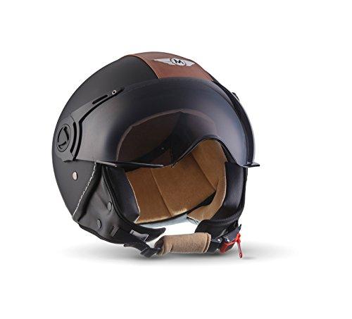 moto helmets h44 vintage black cruiser bobber mofa vespa. Black Bedroom Furniture Sets. Home Design Ideas