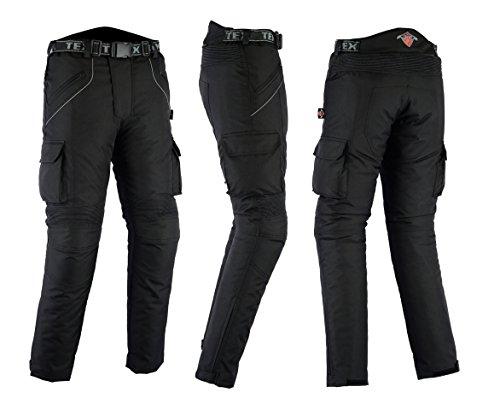 wasserdicht schwarz motorradhose mit protektoren w34. Black Bedroom Furniture Sets. Home Design Ideas