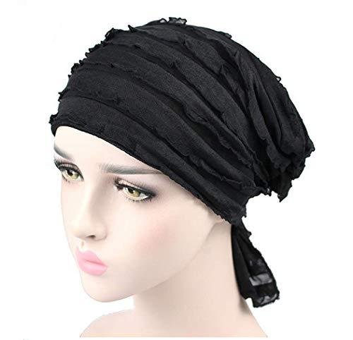 c614db2806f048 Fascigirl Turban Kopfbedeckung, Turban Hut Der Frauen Chiffon Falten Chemo  Kopfbedeckung Turban MüTze