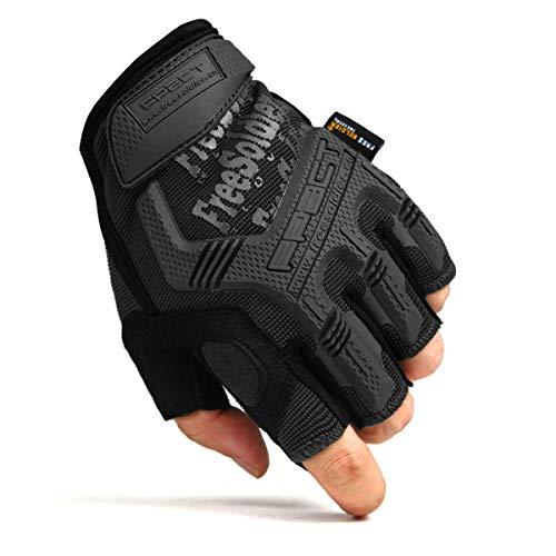 0b751c48421506 FREE SOLDIER Sport Handschuhe Taktische Motorradhandschuhe Herren Halbfinger  Handschuhe mit gepolstertem Ideal für Fahrrad Airsoft Militär Paintball  Kletter ...